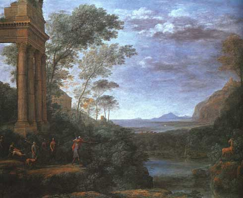 Claude-Lorrain-Landscape-with-Ascanius-Shooting-the-Stag-of-Silv-